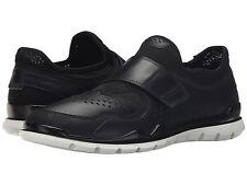 ECCO Lynx Sz US 13 M / EU 47 Black Leather & Mesh Slip-Ons Loafers Mens Shoes