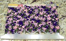Lovely Vintage Purple & Pink Flower Bric a Brac Ribbon Sewing