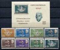 Paraguay 1963 Sport Olympiade Olympics de Coubertin 1160-1167 + Block 34 MNH