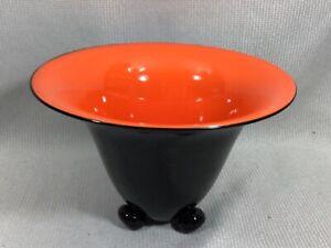 """Czech Powolny Loetz Tango Art Glass Footed 9-5/8"""" Centerpiece Bowl Worldwide"""