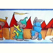 """Bordure Papier Peint AS 8781-20 """"Souris Parade"""" 5m bordure"""