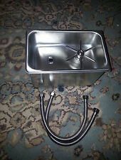 sink, pitcher rinser, 1/4 size, stainless, 5003387b