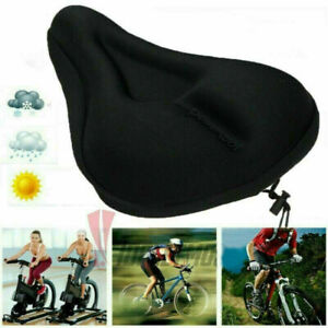 Bike Bicycle Silicone 3D Gel Saddle Seat Cover Comfort Soft Pad Padded P7Z2