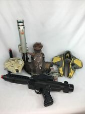 Vintage Star Wars toy lot 1990s-2000s Parts or Repair Light Saber, Blaster, Ship