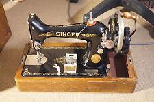 VINTAGE SINGER a gomito a mano macchina da cucire Y2283960 + VALIGETTA