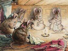 Helen Beatrix Potter la souris coudre les maires manteau ART PRINT POSTER lf252