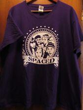 Spaced- 1999 British Comedy TV Series Simon Pegg Lic OOP- Purple T-Shirt- 3XL