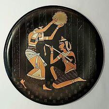 VINTAGE ÄGYPTISCHER WANDTELLER AUS KUPFER HANDARBEIT DURCHMESSER CA. 25 CM