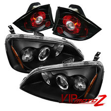 Civic 01-03 2DR Coupe EM2 JDM Black Halo Projector Headlight+Altezza Tail Lamp