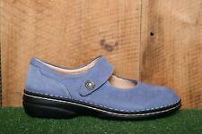 FINN COMFORT 'Laval' Periwinkle Blue Nubuck Mary Janes EUR 39 D | US 8-8.5