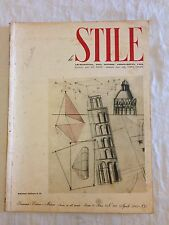 STILE n°28_APR.1943_Architetto GIO PONTI_Arch.CARLO PAGANI_Edit. GARZANTI Milano