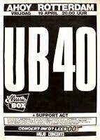 UB40 1985 BAGGARIDDIM TOUR ORIGINAL ROTTERDAM CONCERT POSTER / ALI CAMPBELL