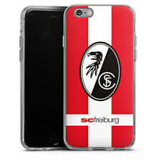 Apple iPhone 6 Silikon Hülle Case - SC Freiburg - Schriftzug