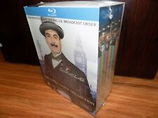 Agatha Christies Poirot: The Early Cases (Blu-ray Disc, 2012, 13-Disc Set) NEW!