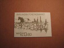 Sweden Booklet Scott# 1760A Smaland Businesses 1989 Mint L2