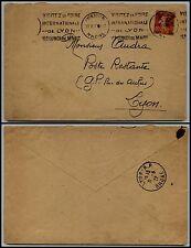 FRANCIA - Francobolli in franchigia  F.M. su 10 c(5) - Lione 31.5.1927