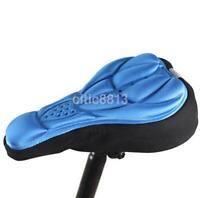 New Cycling Seat Cover Bike Women Bicycle Silicone Gel Cushion Soft Pad Saddle K