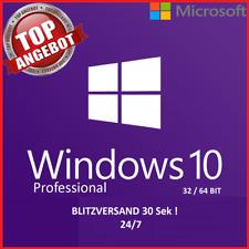 Microsoft Windows 10 Pro Vollversion ✔ AKTION 32 & 64 Bit Product-Key OEM Lizenz