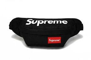 Supreme Black  Fanny Pack Waist Bag Shoulder bag Messenger Crossbody bag Unisex