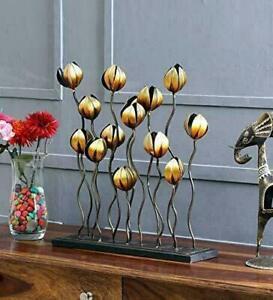 Handcrafted Metal Abstract Flowers Showpiece Sculpture Figurine