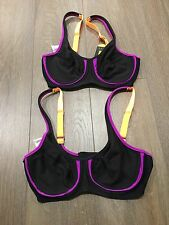 2x ladies Size 8 RIP CURL active Sports Bra. RRP $69.99 Each
