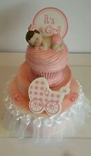 CUPCAKE BABY GIRL BABY SHOWER CAKE TOPPER TABLE DECORATION FAVOR FIGURINE