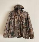 Realtree Microban Scent Control Men's Hooded Full Zip/Snap Camo Jacket 2XL