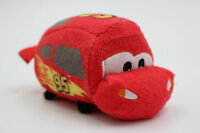 "NEW Authentic Disney store Tsum Tsums Lightning McQueen 3.5"" Plush doll Toy"