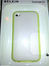 BELKIN ESSENTIAL 031 iPod Touch 4G SKIN CASE COVER White Cream & Yellow NEW