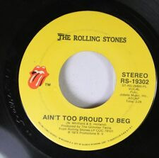 Rock 45 The Rolling Stones - Ain't Too Proud To Beg / Dance Little Sister On Atl