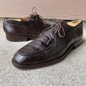 Vintage Mens Ambassador Rudolf Hollaus Genuine Crocodile Dress Shoes ~ Size 10