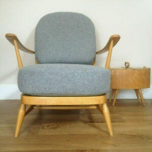 A NEW SET OF CUSHIONS FOR AN ERCOL ARMCHAIR - WOOL & LINEN MIX FABRIC OPTIONS