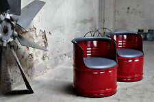 Design Armchair Chair Stool Weather-proof 200l Barrel Oil / Colours Your Choice