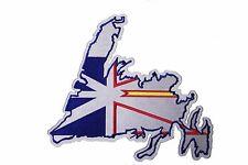 NEWFOUNDLAND Shape & Canada Prov. Flag Embr. Iron-On PATCH CREST BADGE..XX-LARGE