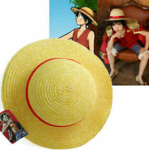 One Piece Luffy Anime Cosplay Straw Boater Beach Hat Anime! UK! FAST DELIVERY!