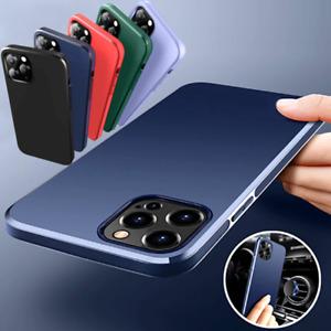 COVER per iPhone 12 Pro Max Mini TPU BUMPER MAGNETICA AUTO + VETRO TEMPERATO 9H