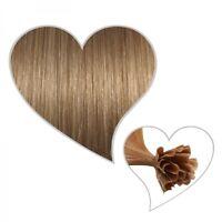 25 Extensions karamellblond #14, 45cm, 1 Gramm, Remy-Echthaar, Haarverlängerung