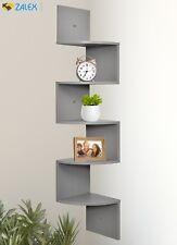 New 5 Tier Wall Mount Corner Shelves Zig Zag Wall Hanging Display Storage Rack