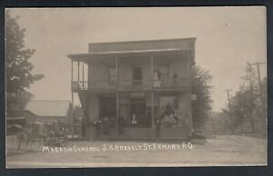 VINTAGE CANADA, QUEBEC, ST. ARMAND, GENERAL STORE BUILDING, REAL PHOTO POSTCARD