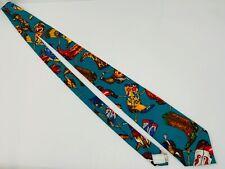 Vtg Cowboy Boot Theme Ralph Marlin Necktie Spurs Ropes Snake Indian Headdress