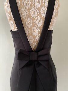 Kate Spade New York Black Rear Oversized Bow Structured Dress UK 10