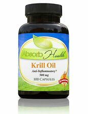 Virgin Krill Oil | 500mg | 100 Soft Gels | Best Price | Better Than Fish Oil
