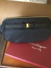 SALVATORE FERRAGAMO Vera Bow cosmetic bag black new in box
