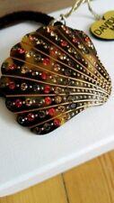 Crystal hair clip elastic tortoise barrette rhinestone Swarovski MC Davidian new