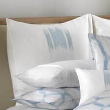 BARBARA BARRY ALPEN STITCH DELFT 1 EUROPEAN PILLOW SHAM BLUE WHITE EMBROIDERED