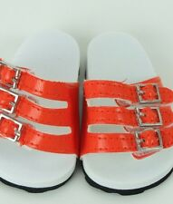 "Doll Clothes AG 18"" Sandals Shoes Strap Orange Made To Fit American Girl Dolls"