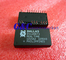 DS12887 IC Dallas Real Time Clock /RAM 128 BYTE 24-EDIP NEW GOOD QUALITY D3