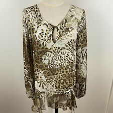 Roberto Cavalli X Target Women's Sheer Multi-Coloured Tie Waist Top Size 10 ~A13