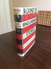 Round Up Ring Lardner's Stories GREAT EARLY DUST JACKET Hardcover Classic Book