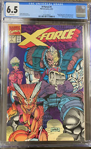 X-FORCE #1 CGC 6.5 WHITE PAGES WRAPAROUND COVER NEW CGC CASE.